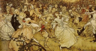 Arthur Rackham - ''The Dance in Cupid's Alley'' (600)
